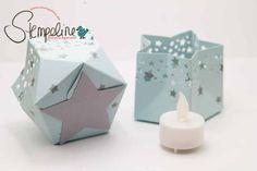 Windlicht mit dem Stanz- und Falzbrett für Geschenktüten und anderen Stampin´ Up! Materialien