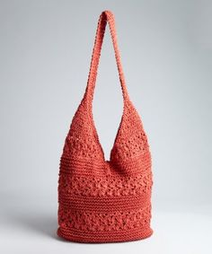 1a02ad68f7 Cappelli Straw World red crochet straw  Toyo  large bag Crochet Storage