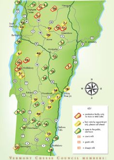 Vermont Cheese Trail Map - Vermont Cheese Council