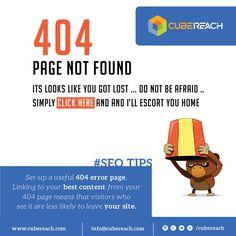 Set-up an 404 error page http://cubereach.com #erropage #seotips #seoinduabi #duabiseo #landingpage #404page #urlredirect #customepage #webdesignindubai #dubaiwebsitedevelopment