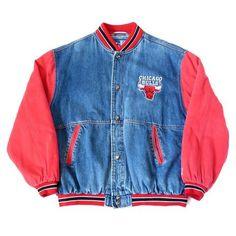 9310a0b2b Vintage Chicago Bulls Denim Starter Jacket Sz XL Chicago Bulls