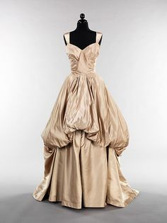 Evening dress (image 1) | Charles James | American | 1949 | silk | Brooklyn Museum Costume Collection at The Metropolitan Museum of Art | Accession #: 2009.300.1861