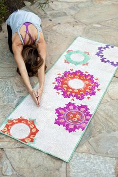 Good Karma sewing / quilt pattern: make a wall hanging, a yoga mat cover, or a table runner. by Such Designs