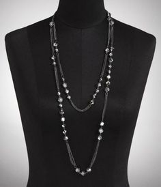 Beaded Gathered Chain Long Necklace from Express- $26.90. Beautiful.