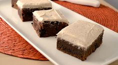 brownies with cinnamon cream frosting