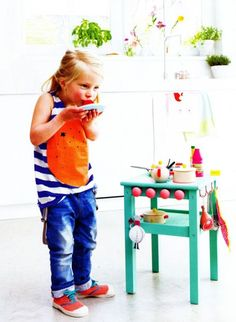 I think little kids playing house and with play kitchens is so adorable. But I personally don't want to spend another dollar on a HUGE toy that may or not have a long shelf life in our home. Always one …