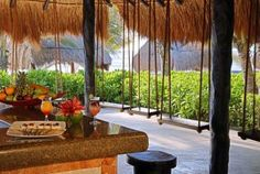 El Dorado Seaside Suites, swing seats at the bar {El Dorado Spa Resorts, by Karisma}
