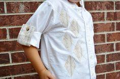 Учебник - Прокат манжеты с Аргайл Аппликация рубашка | Мать Хаддл