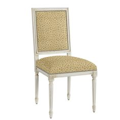 Square Louis Side Chair with Pewter Nailheads