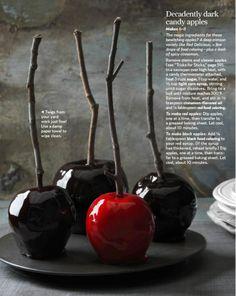 Halloween candy apples.