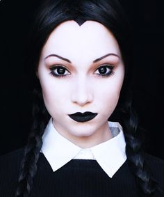 Wednesday Addams Halloween Makeup Tutorial Plus