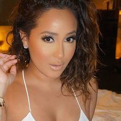 """Those LASHES  Gorgeous glam by @makeupari_ on Celebrity @adrienne_bailon using @LillyLashes in style ""Tehran"" with ""Sky High"" Individuals …"""