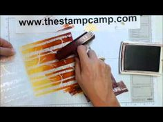Tuesday's Tips & Techniques Embossed Scenic Backgrounds - www.thestampcamp.com - YouTube