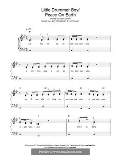 Peace on Earth (David Bowie) - a score for easy piano