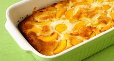 Acid reflux friendly recipe: Peachy cobbler... looks yummy for everyone, not just those with reflux...a great dish to take to a family gathering with someone who has reflux problems