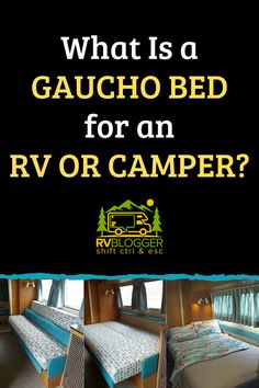 A gaucho bed can solve your need for additional sleeping arrangements in your RV. If you are upgrading or remodeling your RV considering adding a gaucho bed sofa. You can purchase one or find DIY gaucho bed plans. Check out these great tips to learn more. #rvblogger #gauchobed #rvbed #rvbedroom #rvtips #rvdiy #familyvactions #rvrenovation #rvremodel #rvrenovate #rvupgrade