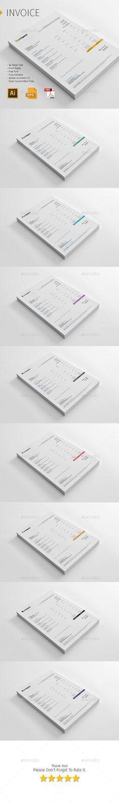 Invoice Template #design Download: http://graphicriver.net/item/invoice-template/12753166?ref=ksioks