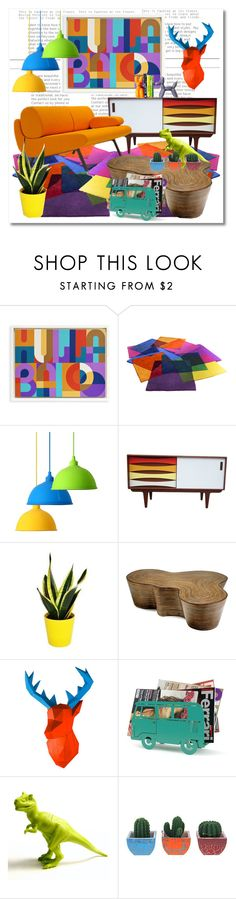 """""""Modern & Colorful"""" by caymansunshine ❤ liked on Polyvore featuring interior, interiors, interior design, home, home decor, interior decorating, Jonathan Adler, Oggetti and modern"""