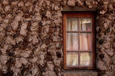 Stone house wall, vintage #stone #stones #stonewall #window #reflection #antique #background #wallpaper #brown
