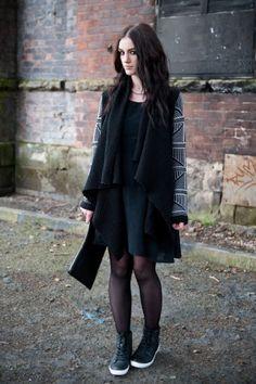 8e6fa2a4c49 Fashion Blogger FAIIINT wearing Stylistpick avery high top studded sneakers  shoes