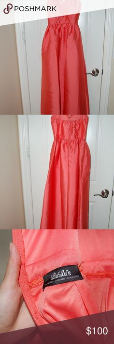 Lulu's Coral Prom Dress Lulu's Coral Prom Dress. Size XS. Never been worn. Lulu's Dresses Prom