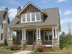 """The Highland Cottage at Griffin Park in Greeneville SC. This plan is 2,372 Heated Square Feet, 4 Bedrooms and 2 1/2 Bathrooms. The master bedroom is on the main floor. The dimensions are 33'-0"""" x 52'-0"""". NC0018"""