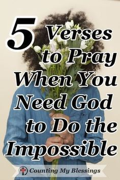 The Bible says, Nothing is impossible for God. These 5 prayers will help you pray when you need Him to do what only He can do in your impossible circumstances. #Pray #Faith #AnythingisPossible Prayer Scriptures, Bible Prayers, Faith Prayer, God Prayer, Power Of Prayer, Prayer Quotes, Faith In God, Faith Quotes, Bible Quotes