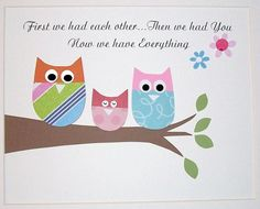 Sweet and silly owls, match to Zutano Owl bedding-Baby Room Art Decor Kids Wall Art Children's Room by vtdesigns, $14.00