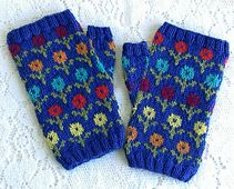 Ravelry: Margot's Garden Fingerless Mittens pattern by Karen Porter