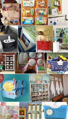 kids organization ideas.. links all in one spot @Paula Hegsted mailboxes in the playroom with? :)