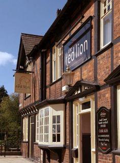 The Red Lion, Winsford, Cheshire Pub Food, Pub Signs, England Uk, Cottage, The Originals, Lion, House Styles, Origins, Caravan
