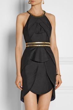 SASS & BIDE The Good Life embellished textured-crepe mini dress $451.50
