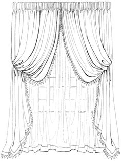 italian stringing curtains - Google Search
