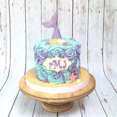 Goat Cheese Cake with Hazelnut, Easy and Cheap - Clean Eating Snacks Whale Birthday Parties, Mermaid Birthday Cakes, Baby Girl Birthday, Frozen Birthday, 4th Birthday, Little Mermaid Cakes, Little Mermaid Parties, Cute Snacks, Themed Cakes