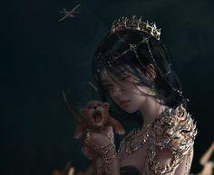 Fantasy Concept Art, Fantasy Character Design, Dark Fantasy Art, Fantasy Artwork, Character Art, Fantasy Art Women, Beautiful Fantasy Art, Fantasy Girl, Kawaii Anime Girl