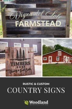 Country Signs Country Signs, Rustic Signs, Shed Signs, Barn Signs, Engraved Wood Signs, Wood Shingles, Outdoor Signs, Woodland, Red Barns