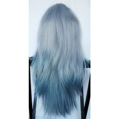 Spring SALE - ARCTIC FOX wig // Ombre Silver Blue Hair // Straight... ($83) ❤ liked on Polyvore
