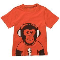 Carter's® Infant Boy Monkey and Headphones Tee #VonMaur #Carters