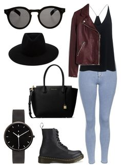 """""""Untitled #44"""" by oliviamfoster ❤ liked on Polyvore featuring Topshop, TIBI, Madewell, Dr. Martens, I Love Ugly, MICHAEL Michael Kors, Illesteva and rag & bone"""
