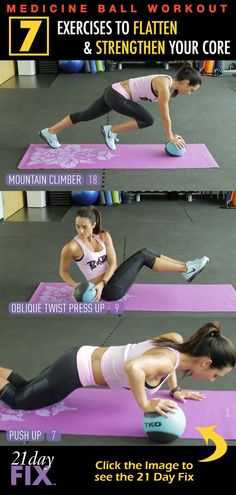 Creator of the 21 Day Fix, Autumn Calabrese, shows you how to strengthen your core! Simple workouts now for more challenges later... http://www.onesteptoweightloss.com/21-day-fix-workout-review #15LBWeightLoss