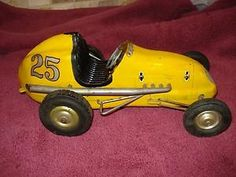 ... Larger Image:VINTAGE OHLSSON & RICE TETHER RACE INDY CAR #25 Yellow