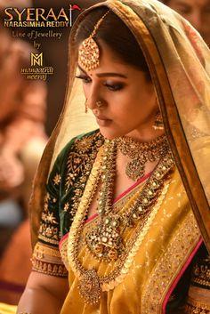Bridal Sarees South Indian, Indian Bridal Outfits, Indian Bridal Fashion, Indian Bridal Wear, Indian Fashion Dresses, Saree Jewellery, Bridal Jewellery, Wedding Saree Collection, Indian Jewellery Design