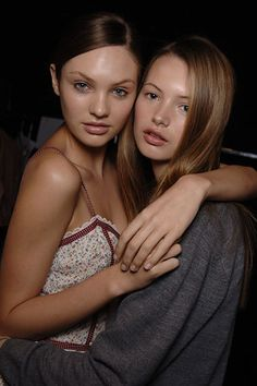 Candice Swanepoel with Mona Johannesson