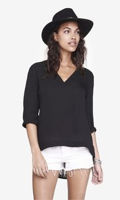 deep v-neck hi-lo tunic top from EXPRESS