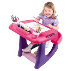 Sit 'N' Draw Creativity Desk - Pink and Purple