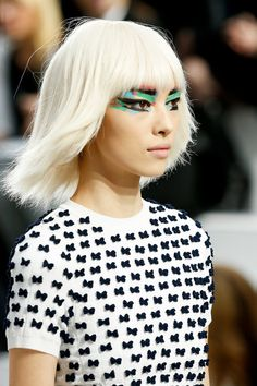 60s space-age wigs by Sam McKnight for Chanel Spring 2014 Ready-to-Wear Collection Slideshow on Style.com