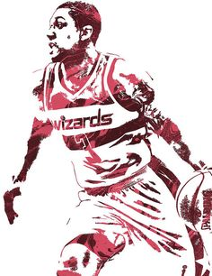Bradley Beal WASHINGTON WIZARDS PIXEL ART 3 Art Print by Joe Hamilton. All prints are professionally printed, packaged, and shipped within 3 - 4 business days. Basketball Leagues, Basketball Legends, Nba Basketball, Joe Hamilton, Bradley Beal, Nba League, Washington Wizards, Thing 1, Sports Wallpapers