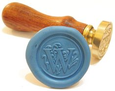 LETTER W initial wax seal stamp in vintage design by WaxSealStamp