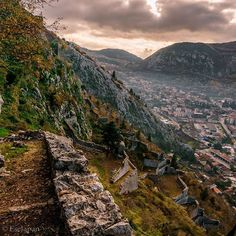 What remains: Fortification of Kotor, Montenegro