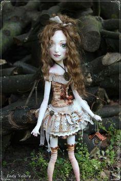 Флер - коричневый,авторская ручная работа,авторская кукла,кукла ручной работы